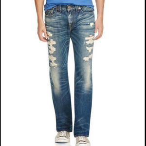 True Religion Jeans RICKY Relaxed Straight w Flap